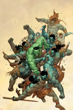 Incredible Hulk No6 Cover: Hulk Fighting