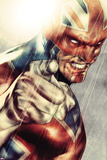 Iron Age No1: Captain Britain Posing