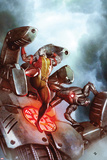 X-Men No22 Cover: Colossus and War Machine Fighting