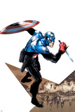Captain America Corps No1 Cover: Captain America with Shield and Dagger