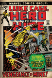 Marvel Comics Retro: Luke Cage  Hero for Hire Comic Book Cover No2  Smashing Wall (aged)