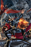 Avengers 2 Cover: Black Widow  Falcon  Thor  Sunspot