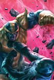 The Thanos Imperative No4 Cover: Drax and Thanos Fighting