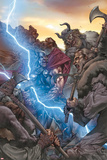 Thor: The Rage of Thor No1 Cover: Thor Fighting and Screaming  and Lightning