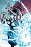 Marvel Adventures Super Heroes No19: Thor Throwing Mjolnir with Lightning and Energy