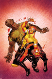 Shadowland: Power Man No2 Cover: Power Man and Luke Cage Fighting