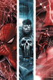 The Punisher No10 Cover: Spider-Man  Punsiher  and Daredevil