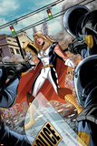Fear Itself: Youth in Revolt No1: Thor Girl Standing with a Hammer
