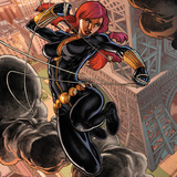 Fear Itself: Black Widow No1 Cover: Black Widow Jumping