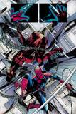 The Amazing Spider-Man No677: Daredevil and Spider-Man Fighting and Falling
