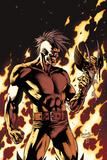 Dark Wolverine No90 Cover: Darken in Flames