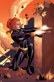 Marvel Adventures Super Heroes No10 Cover: Black Widow Shooting