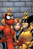 Marvel Adventures Spider-Man No7 Cover: Spider-Man  Wolverine  and Shadowcat Standing