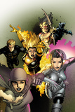 X-Men Legacy No246 Cover: Dust  Karma  Magma  Cypher  Moonstar  and Sunspot