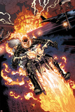 Heroes For Hire No2: Ghost Rider Riding Motorcycle