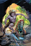 Ka-Zar No4 Cover: Ka-Zar Running and Jumping through the Jungle