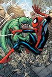 Marvel Adventures Spider-Man No10 Cover: Spider-Man and Scorpion Fighting