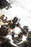 Taskmaster No2 Cover: Task Master Fighting