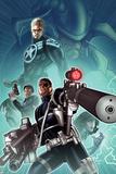 Secret Warriors No28 Cover: Nick Fury  Steve Rogers  and Dum Dugan Standing with Guns