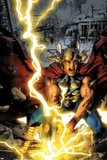 Thor: First Thunder No3 Cover: Thor Smashing