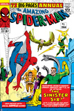 Amazing Spider-Man Annual No1 Cover: Spider-Man  Sandman  Mysterio  Dr Otto Octavius  and Electro