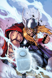 Thor: Heaven and Earth No3 Cover: Thor Smashing with Mjonir