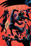 Superior Spider-Man Team-Up 1 Cover: Spider-Man  Thor  Iron Man  Hulk  Black Widow  Hawkeye