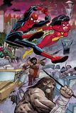 Avengers No5: Spider-Man and Spider Woman Swinging