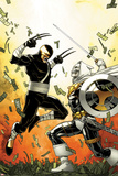 Daken: Dark Wolverine No12 Cover: Daken and Task Master Fighting
