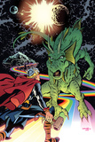 Thor The Mighty Avenger No6 Cover: Thor and Fin Fang Foom Standing