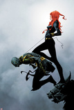 Widowmaker No2 Cover: Black Widow Holding Another By a Rope