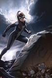 Spider-Girl No3 Cover: Spider-Girl Standing by a Tombstone