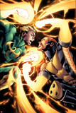 Shadowland: Power-Man No4: Iron Fist and Power Man Fighting
