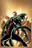 Superior Spider-Man 13 Cover: Spider-Man  Lizard