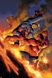 Hulk No49 Cover: Red Hulk and Icarus