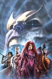 The Thanos Imperative: Devestation No1 Cover: Medusa  Gladiator  Silver Surfer  and Gamora