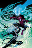 Ultimate Spider-Man No154 Cover: Black Cat  Spider-Man  and Mysterio Fighting and Jumping