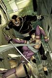 Daken: Dark Wolverine No6 Cover: Daken and Tyger Tiger Fighting