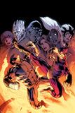 Wolverine 9 Cover: Wolverine  Batroc the Leaper  Storm  Beast  Grey  Jean  Iceman  Summers  Rachel