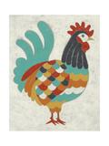 Country Chickens I Reproduction d'art par Chariklia Zarris