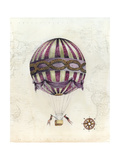 Vintage Hot Air Balloons I Reproduction d'art par Naomi McCavitt