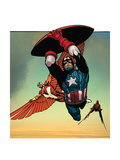 Avengers Assemble Artwork Featuring Falcon - Captain America