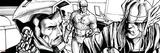 Avengers Assemble Inks Featuring Captain America  Tony Stark  Iron Man  Thor