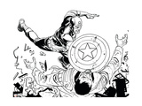Avengers Assemble Inks Featuring Captain America