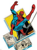 Marvel Comics Retro Badge Featuring Spider Man