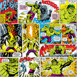 Marvel Comics Retro Pattern Design Featuring Hulk