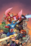 Avengers Assemble Panel with Hawkeye  Black Widow  Captain America  Hulk  Red Skull & More