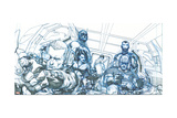 Avengers Assemble Pencils Featuring Hawkeye  Captain America  Iron Man  Thor  Black Widow