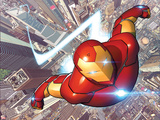 Invincible Iron Man 1 Cover Featuring City  Skyscrapers