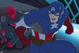 Avengers Assemble Animation Still Featuring Captain America  Red Skull